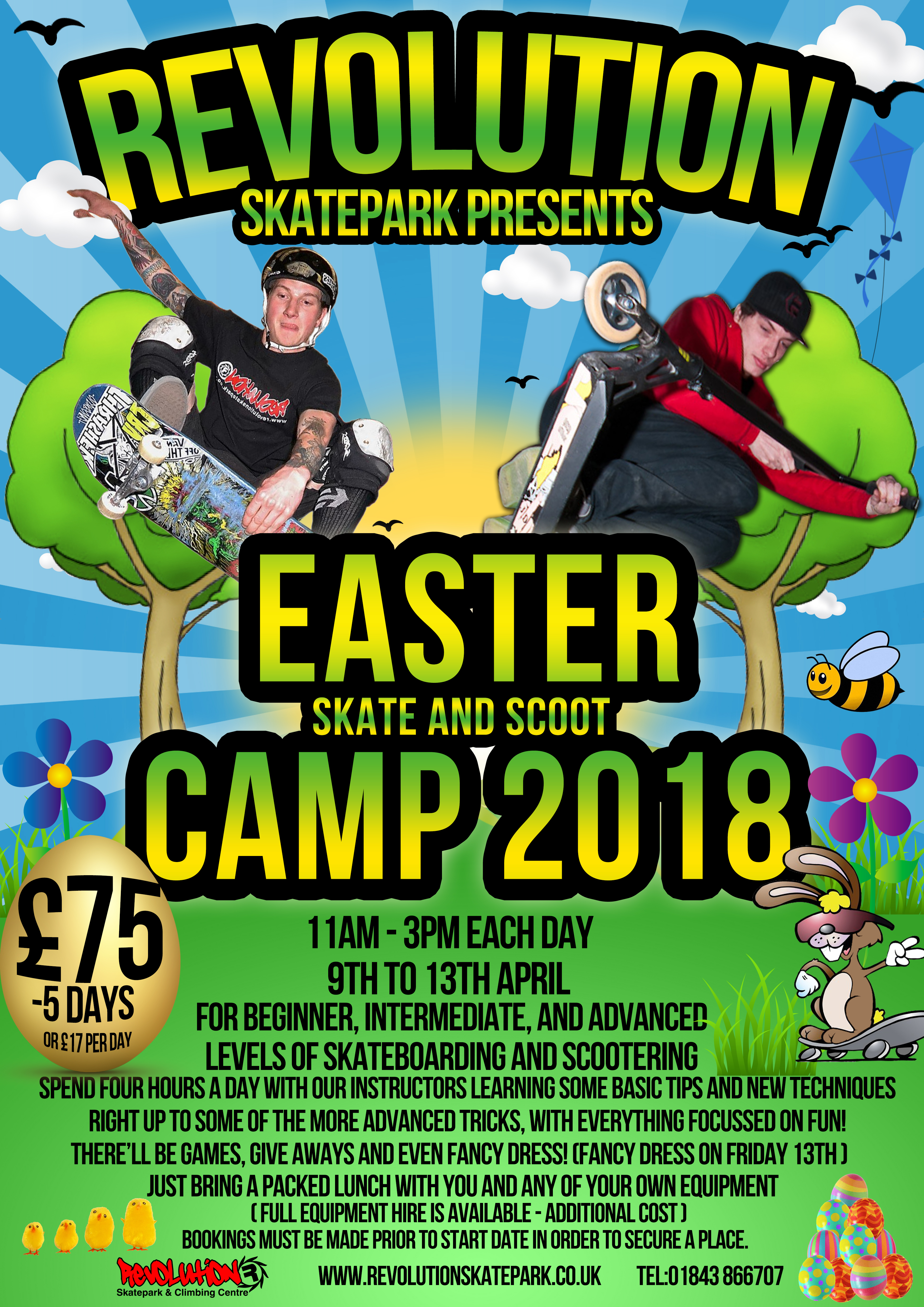 Skate and Scoot Camp - Easter