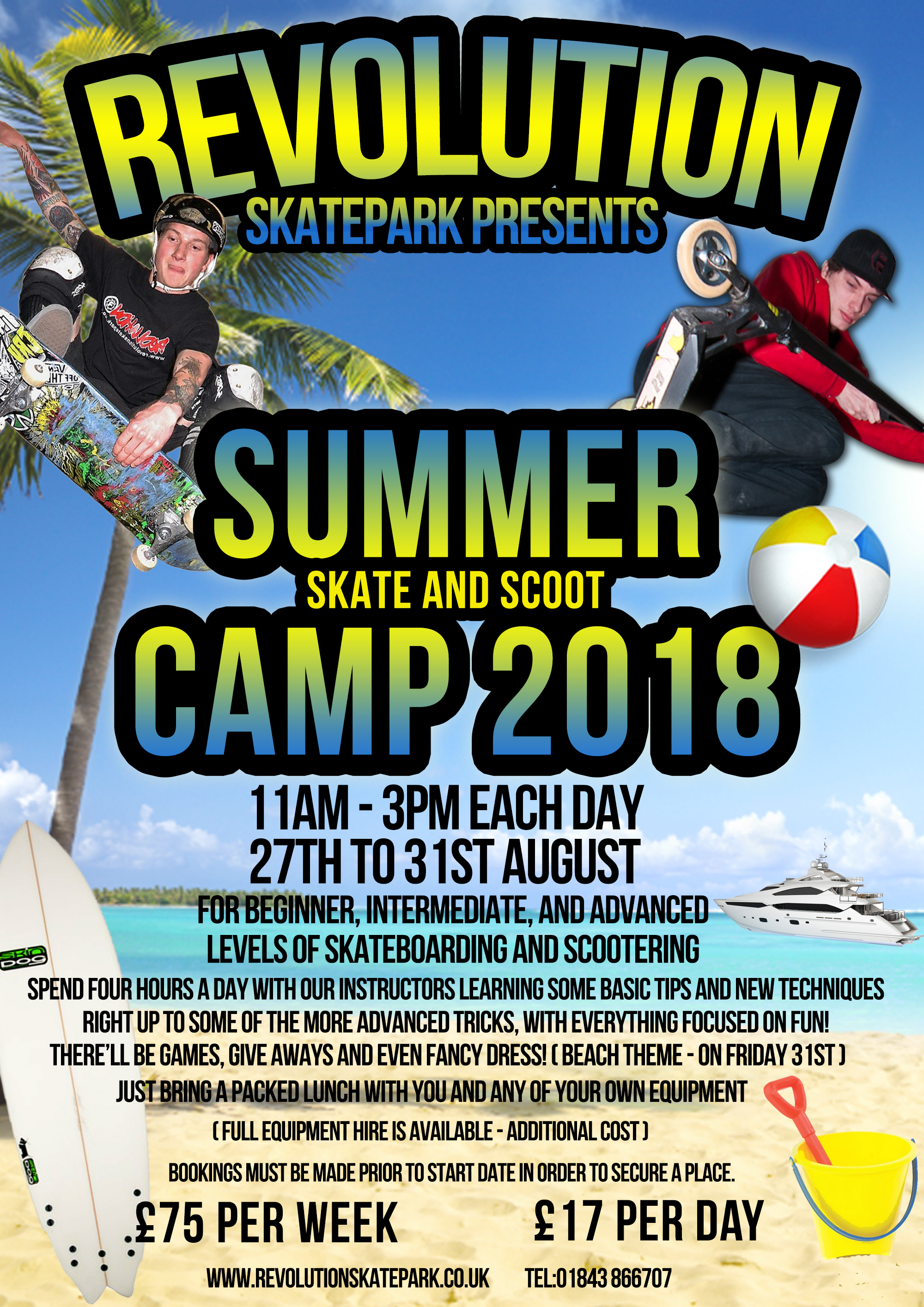 Skate & Scoot Camp - Summer 2