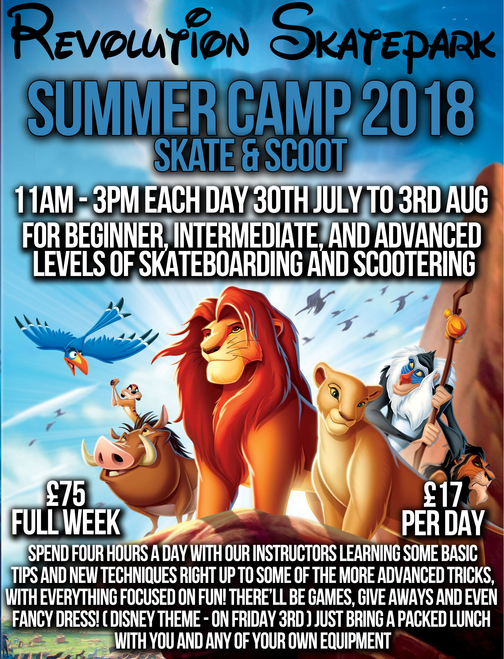 Skate & Scoot Camp - Summer 1