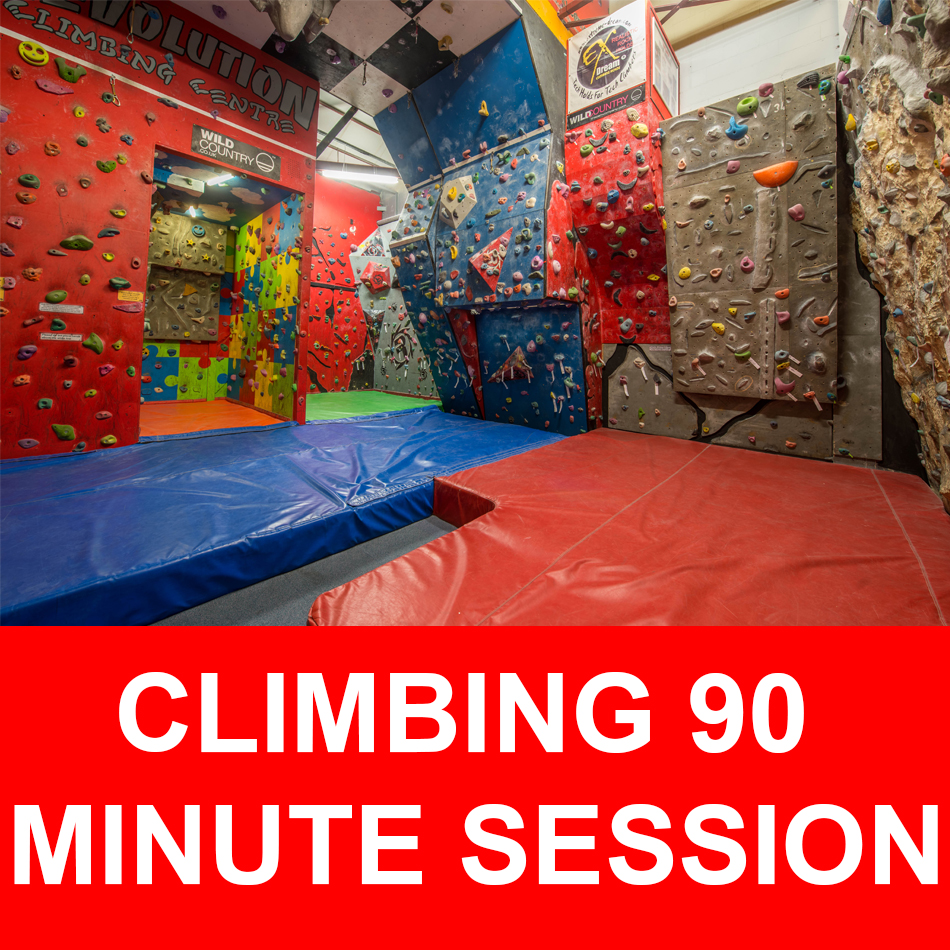 Climbing bouldering session