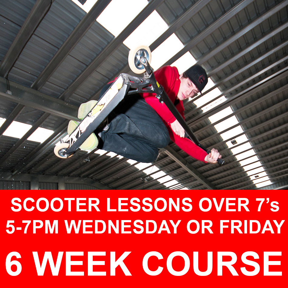 Scooter over 7s course