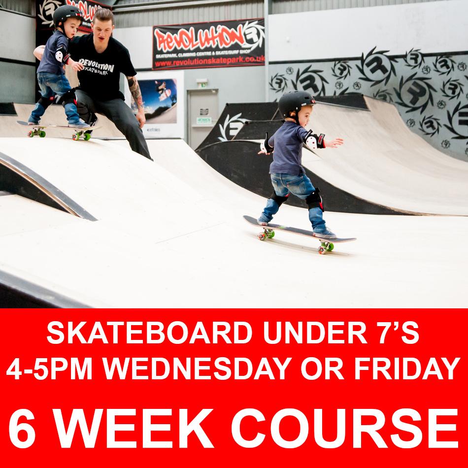 Skateboard under 7s course