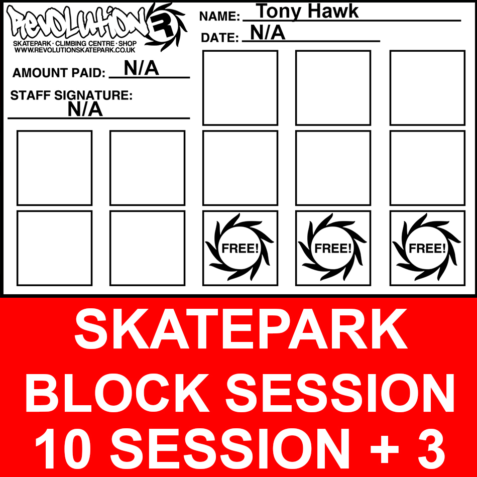 Skatepark block session £70
