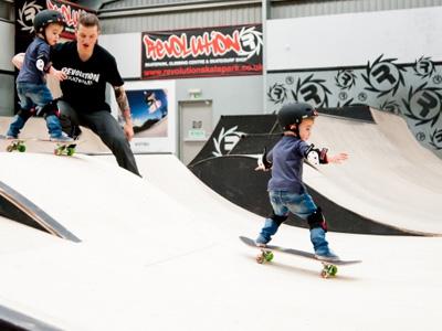 Skateboard Lesson under 7